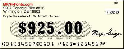 The new SecureAmounts™ secure number fonts use the same technology as the latest bank note, to prevent unauthorized modifications in the amount